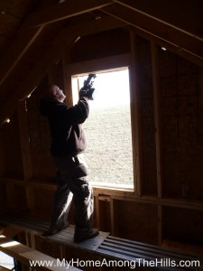 Cutting out the window opening