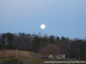 The moon was huge as we were packing up