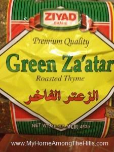 A bag of green za'atar