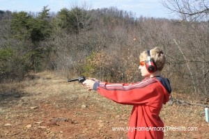 Target shooting with a single action