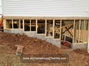 Building a stem wall under the house