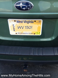 WV Sesquicentennial license plate