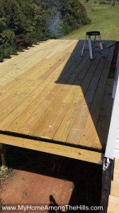 The back deck...installed!