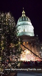 The official Christmas tree of the state of West Virginia