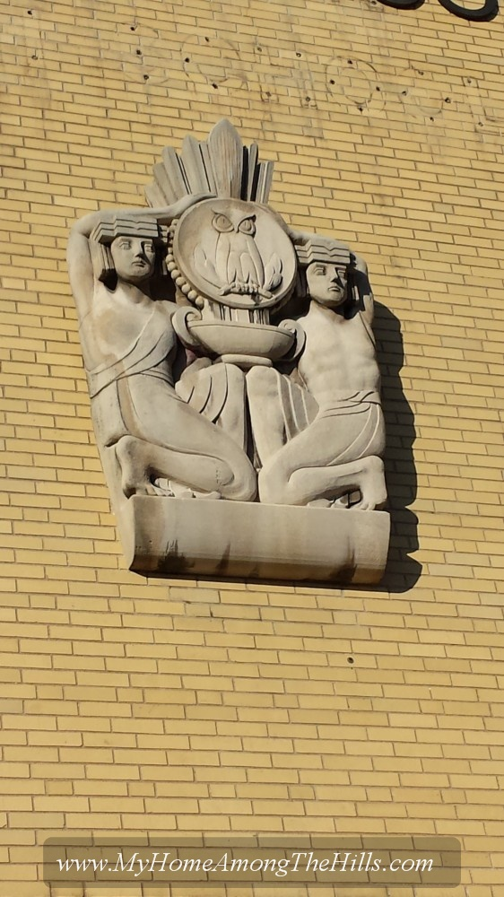 Sculpture on Stonewall Jackson High School, Charleston, WV