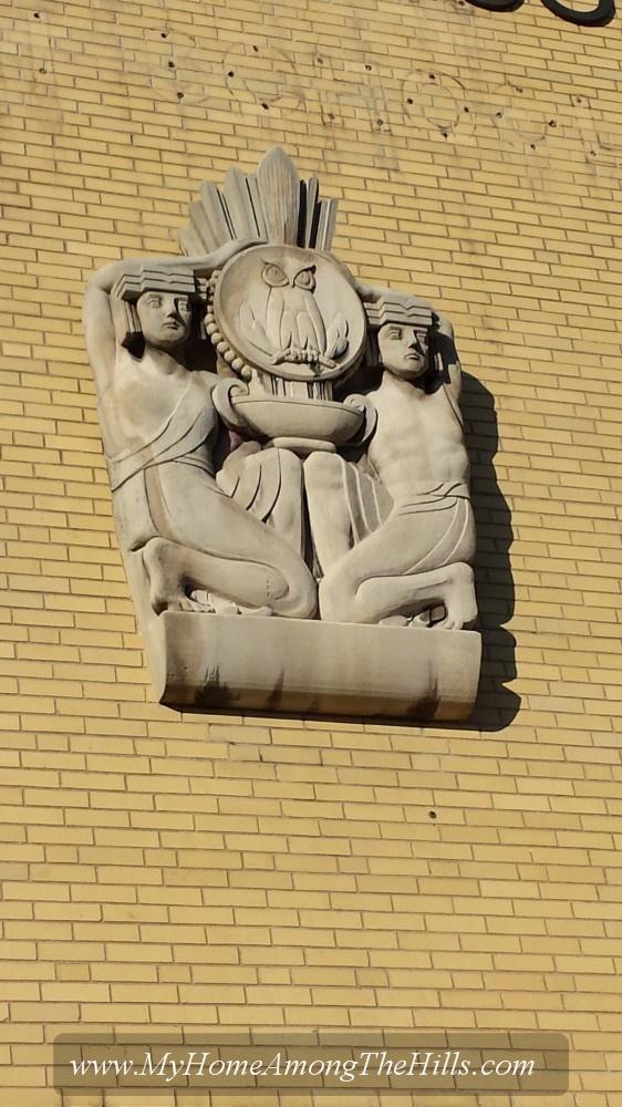 Sculpture on Stonewall Jackson High School, Charleston, WV