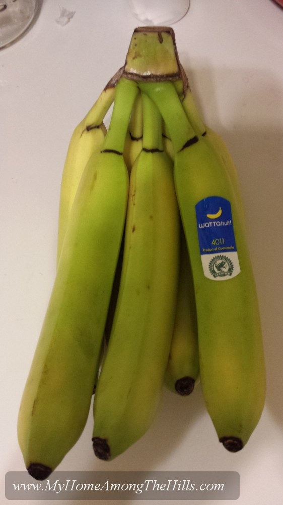 Green bananas...an atrocity!