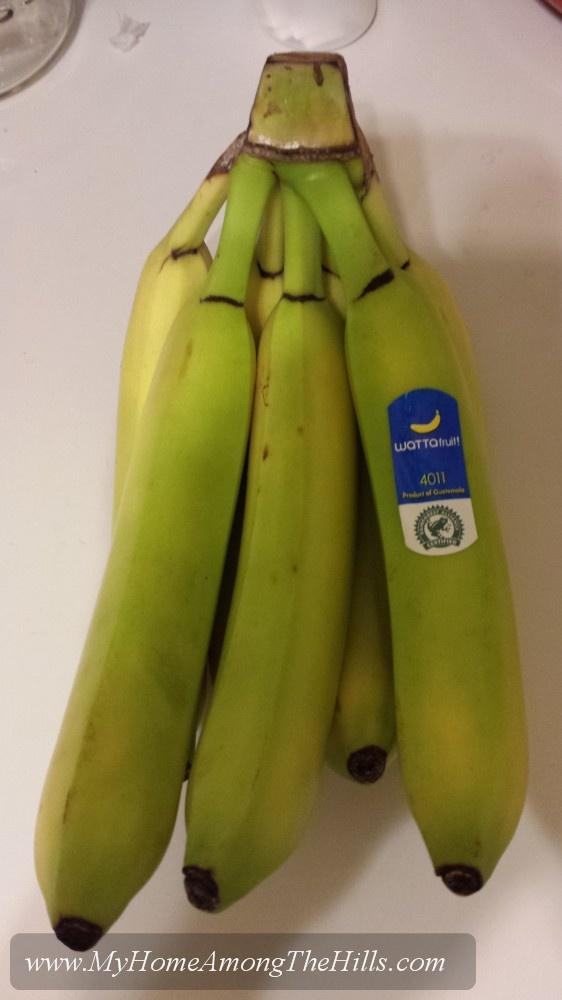 Green bananas...an atrocity!
