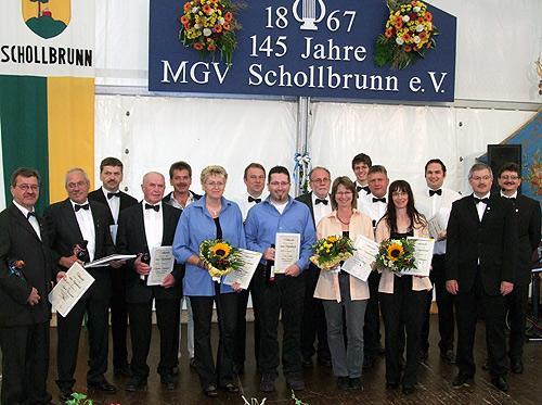 500 Geehrten Saenger MGV Schollbrunn