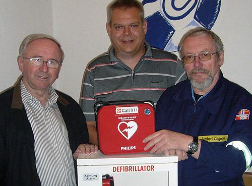 Uebergabe AED