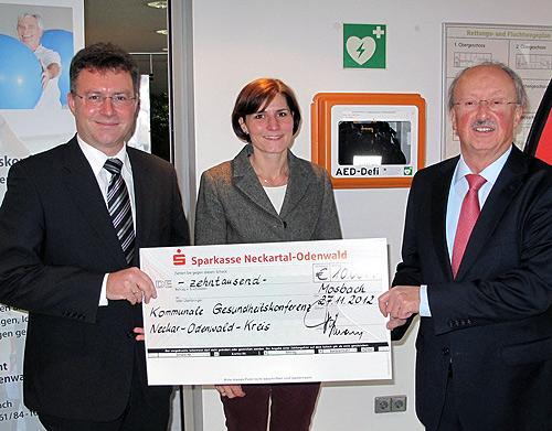 AED Foerderung durch die Sparkasse