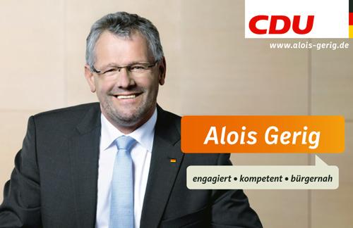 NZ Alois Gerig mit CDU Logo und Website