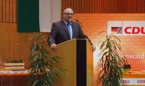 Rede Kreisvorsitzender Ehrenfried Scheuermann. (Foto: NOKZEIT)