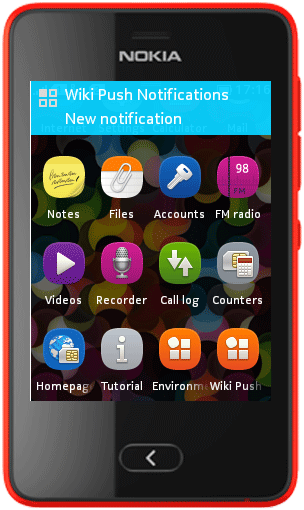 ovi notifications api for nokia 5233
