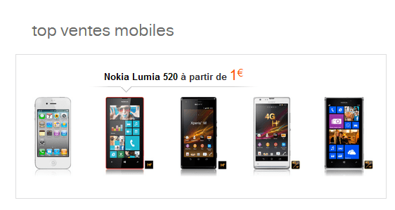 Orange Lumia top sales 22-11-2013