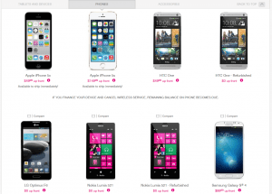 T-Mobile bestsellers nov 2013