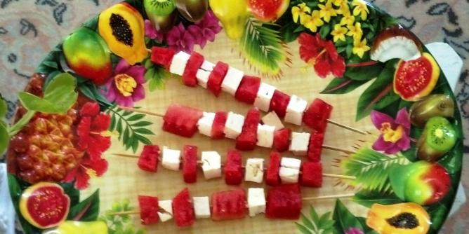 Watermelon and Feta Kababs
