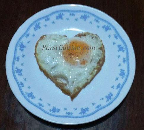 "Happy Valentine's Day ""Bawa"" Style with Half-Fried Eggs"