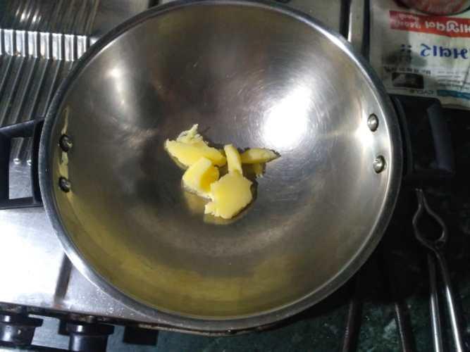 1. Heat Ghee in Pot
