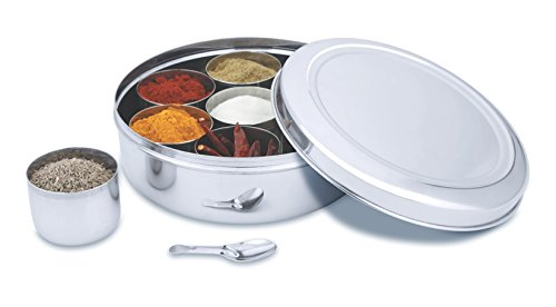 Stainless Steel Round Indian Spice Box