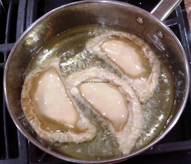 Fry in medium hot oil