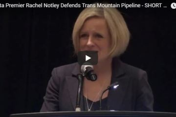 Alberta Premier Notley Explains How The Trans Mountain Pipeline Is Good For The Environment - FULL COFFEE SHOPS & UNICORNS SPEECH