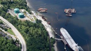 Trans Mountain Pipeline Marine Terminal In Burnaby BC May 2018 (Associated Press)