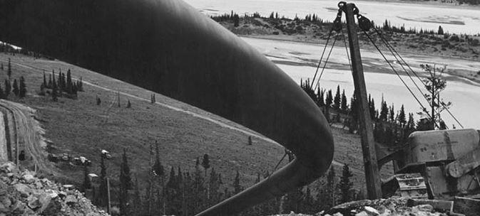 Trans Mountain construction 1953