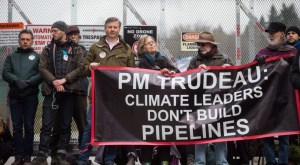 Anti Trans Mountain Rally -PM Trudeau: Climate Leaders Don't Build Pipelines