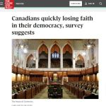 Canadians Losing Faith In Political Processes