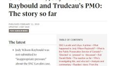 Globe and Mail Trudeau Raybould SNC
