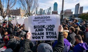 amazon-protesters-new york