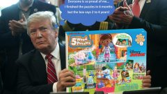 Trump Kids Puzzles - Everyone is so proud of me - finished puzzles in 6 months but the box says 2 to 4 years