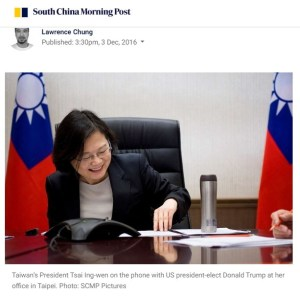 scmp taiwan tsai ing-wen trump call