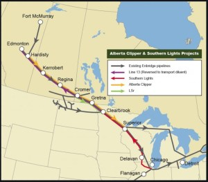 Enbridge Southern Lights Pipeline Reversal and change 2019