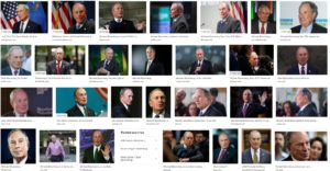 dozens of pictures of Michael Bloomberg