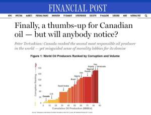 Canada clean safe oil and gas corruption compared to other countries - National Post