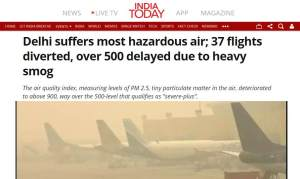Delhi shut down airport because of smog 2019