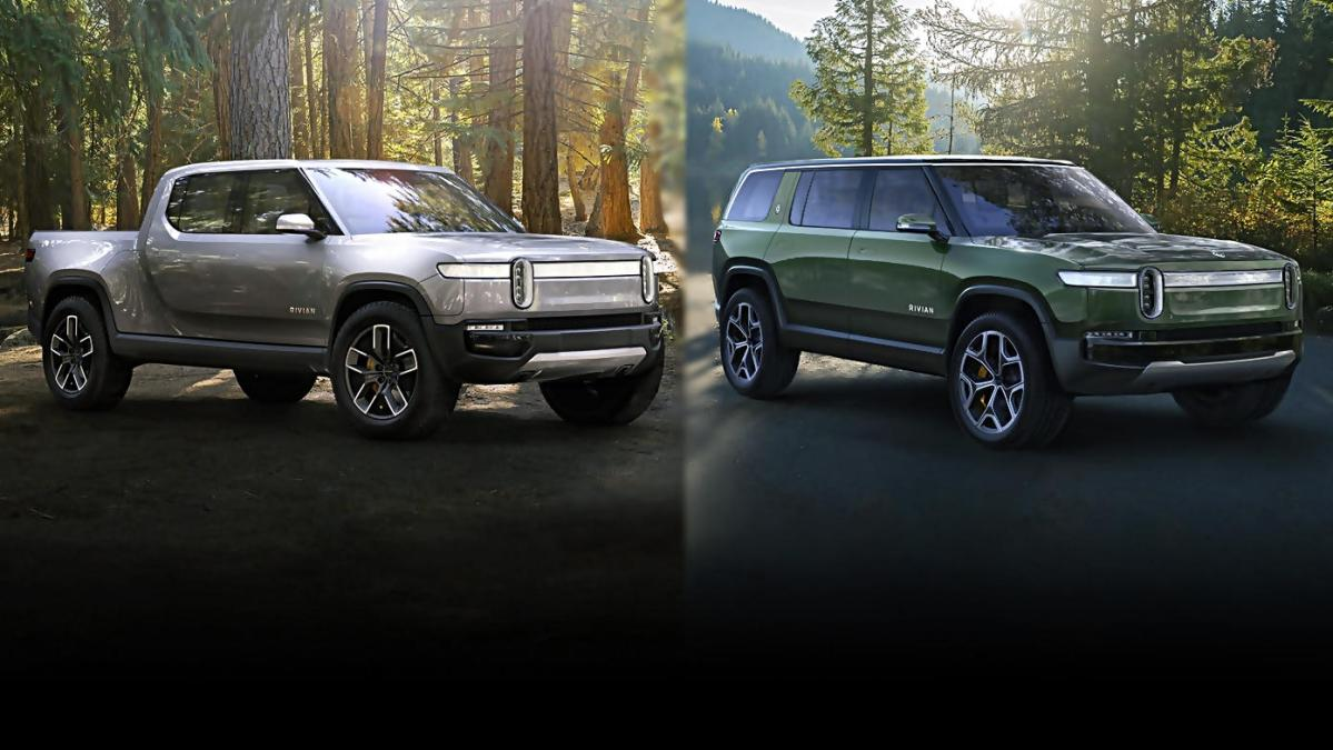 New-Rivian-truck-and-SUV