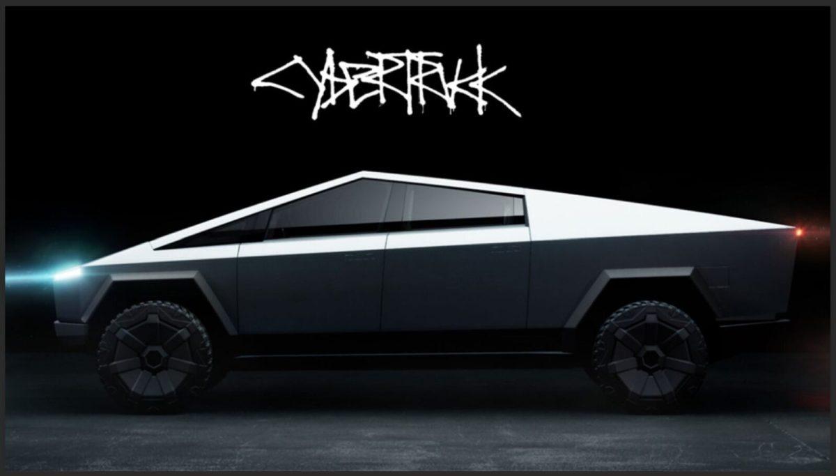 Tesla Cybertuck -side lights on