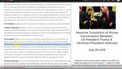 Zelensky Trump audio and text of conversation impeachment