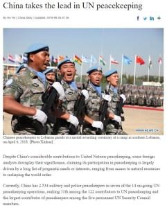 China Peace Keeping