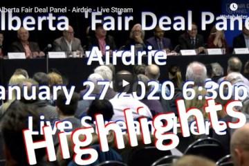 alberta fair deal panel-jan 27 2020 Highlights