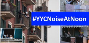 yycnoiseatnoon - people on balcony making noise