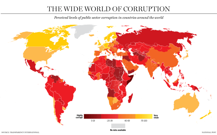 global government corruption map