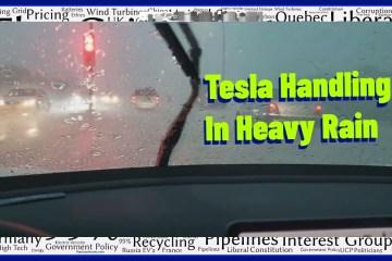 Tesla Model 3 SR+ Handling In Heavy Rain