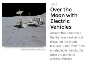 nasa lunar rover made by GM is electric in 1971