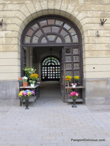 Flowers and Door in Warsaw