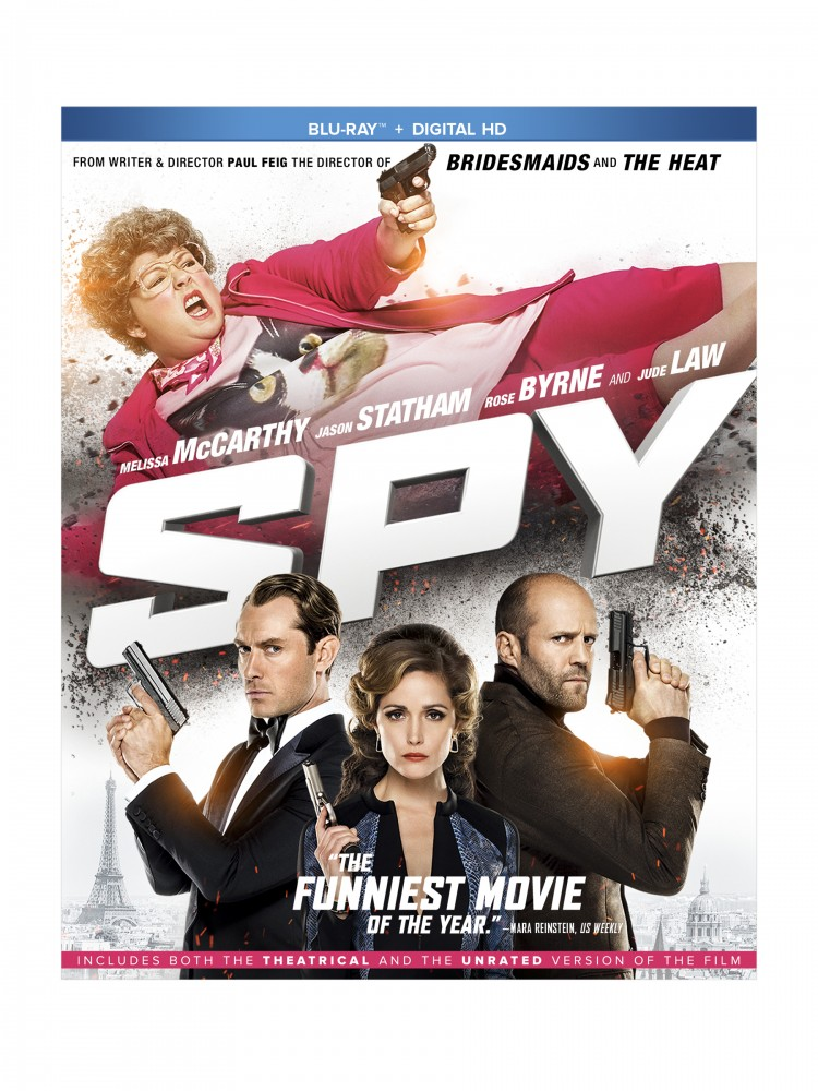 SPY starring Melissa McCarthy on Blu-Ray