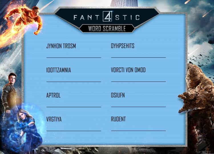 Fantastic Four Word Search Pt. 1